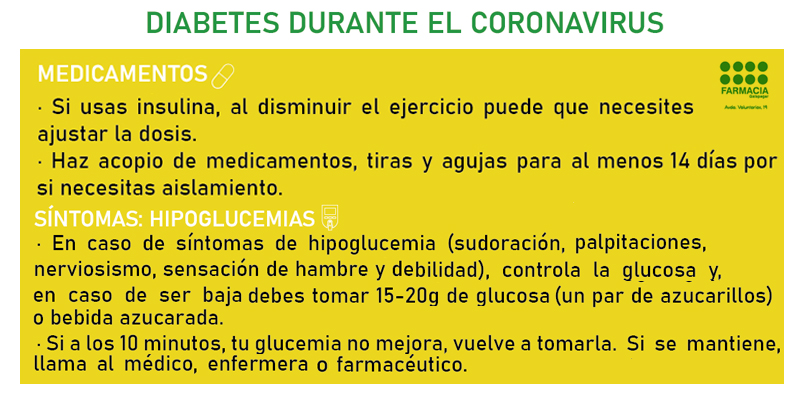 Diabetes durante el coronavirus 2