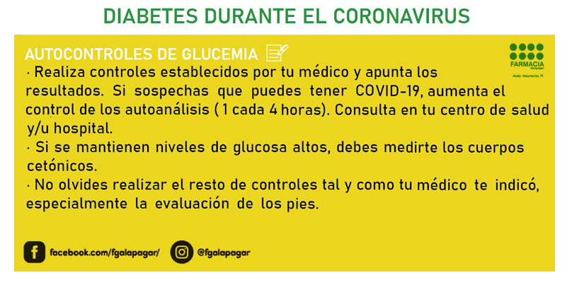 Diabetes durante el coronavirus 3